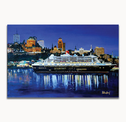 Quebec HarborSize: 20 x 30 in.Medium used: Acrylic