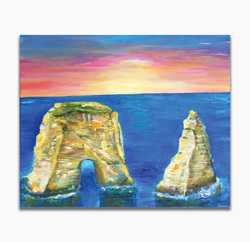 Bay RockSize: 20 x 24 x 0.5 in.Medium used: Oil